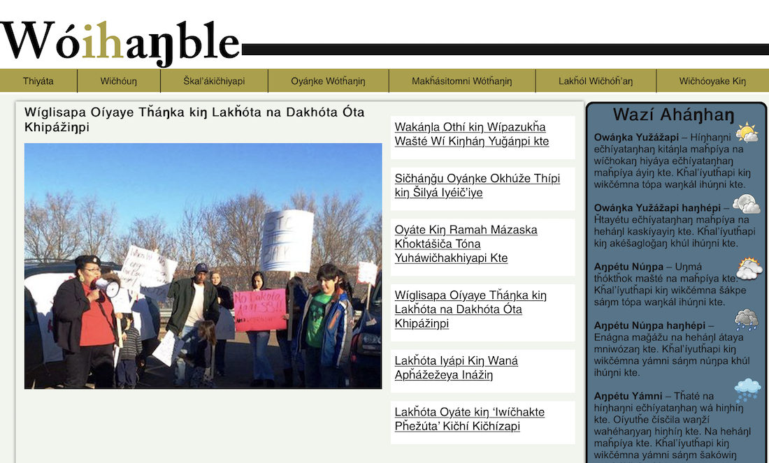 New website keeps Lakota language alive with the latest news