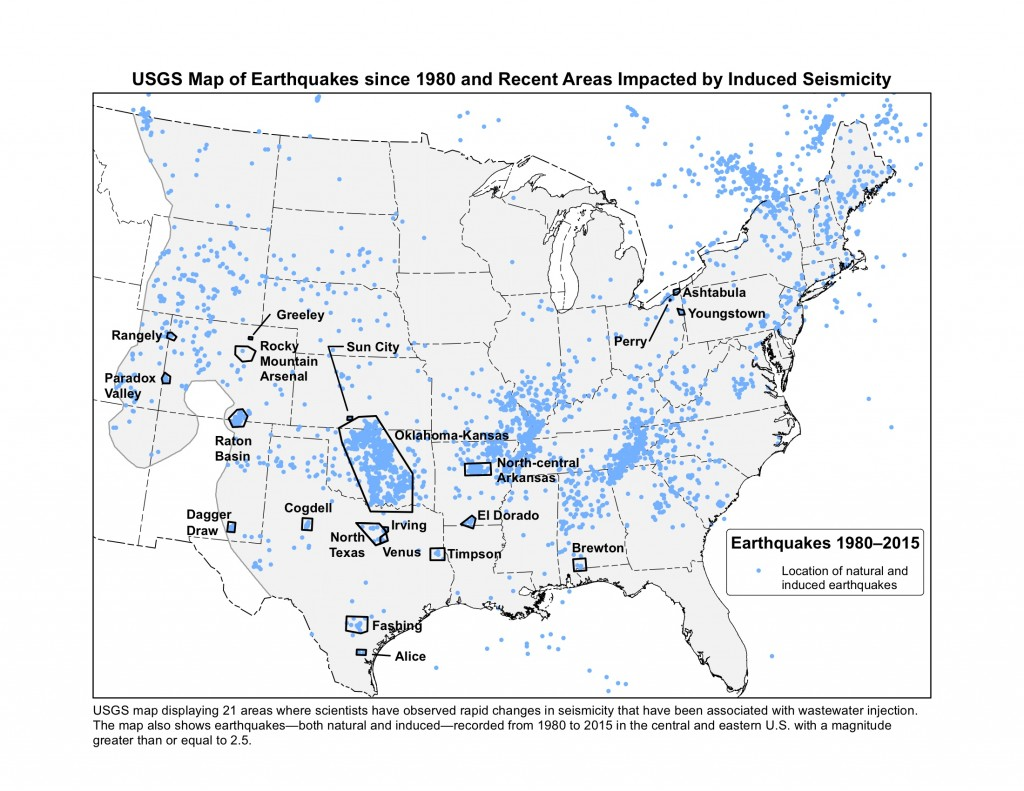 Oklahoma named at highest risk of human-induced earthquakes
