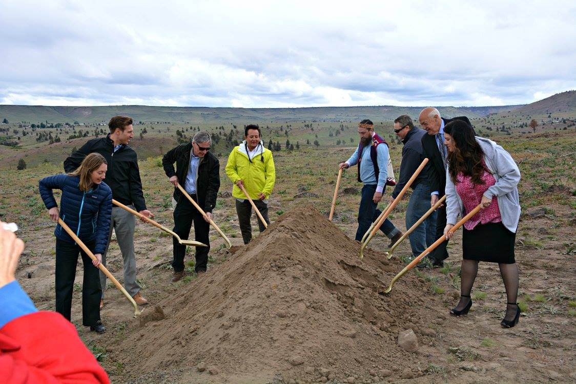Warm Springs Tribes break ground on greenhouse to grow marijuana