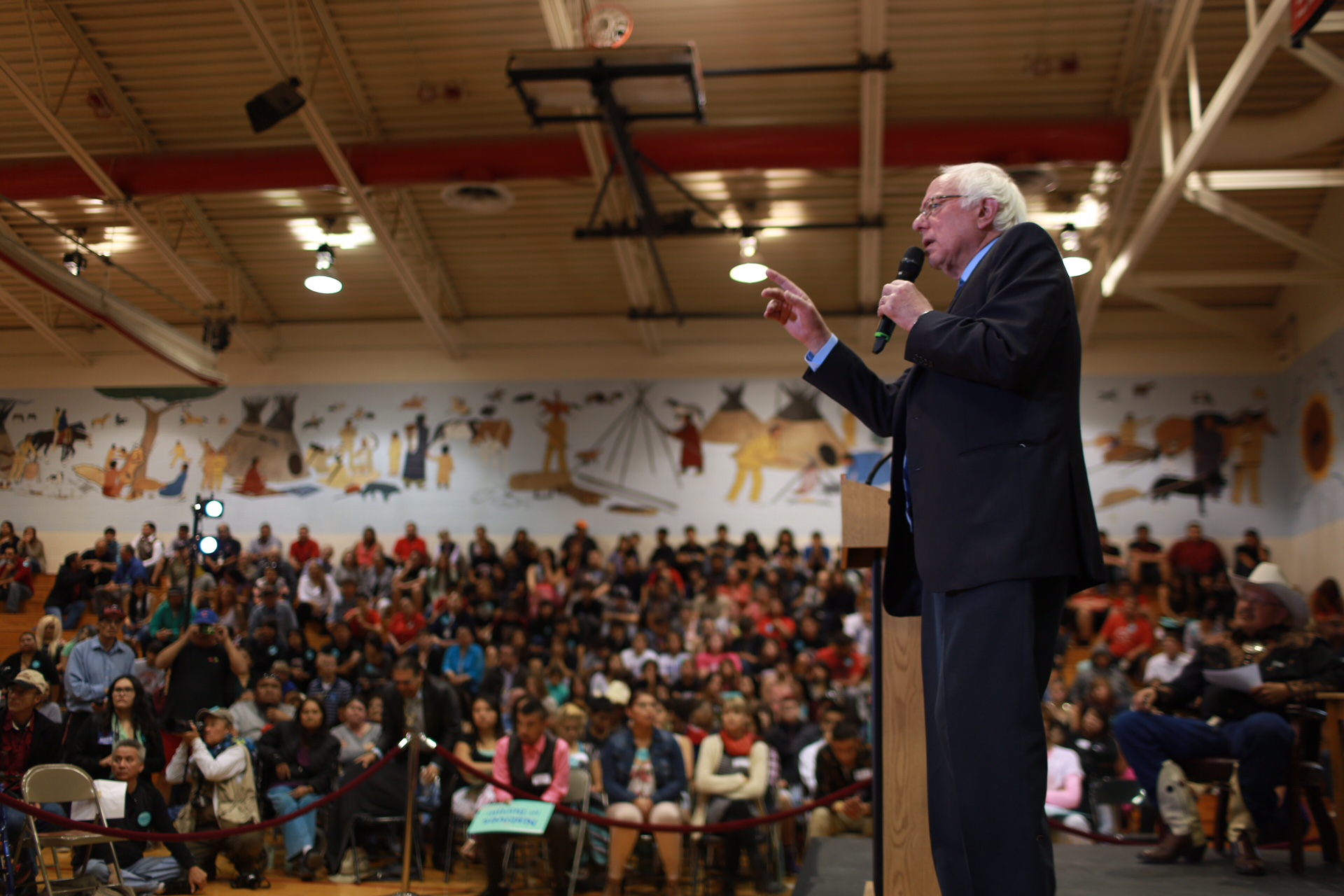 Bernie Sanders promises to tackle inequality in Indian Country