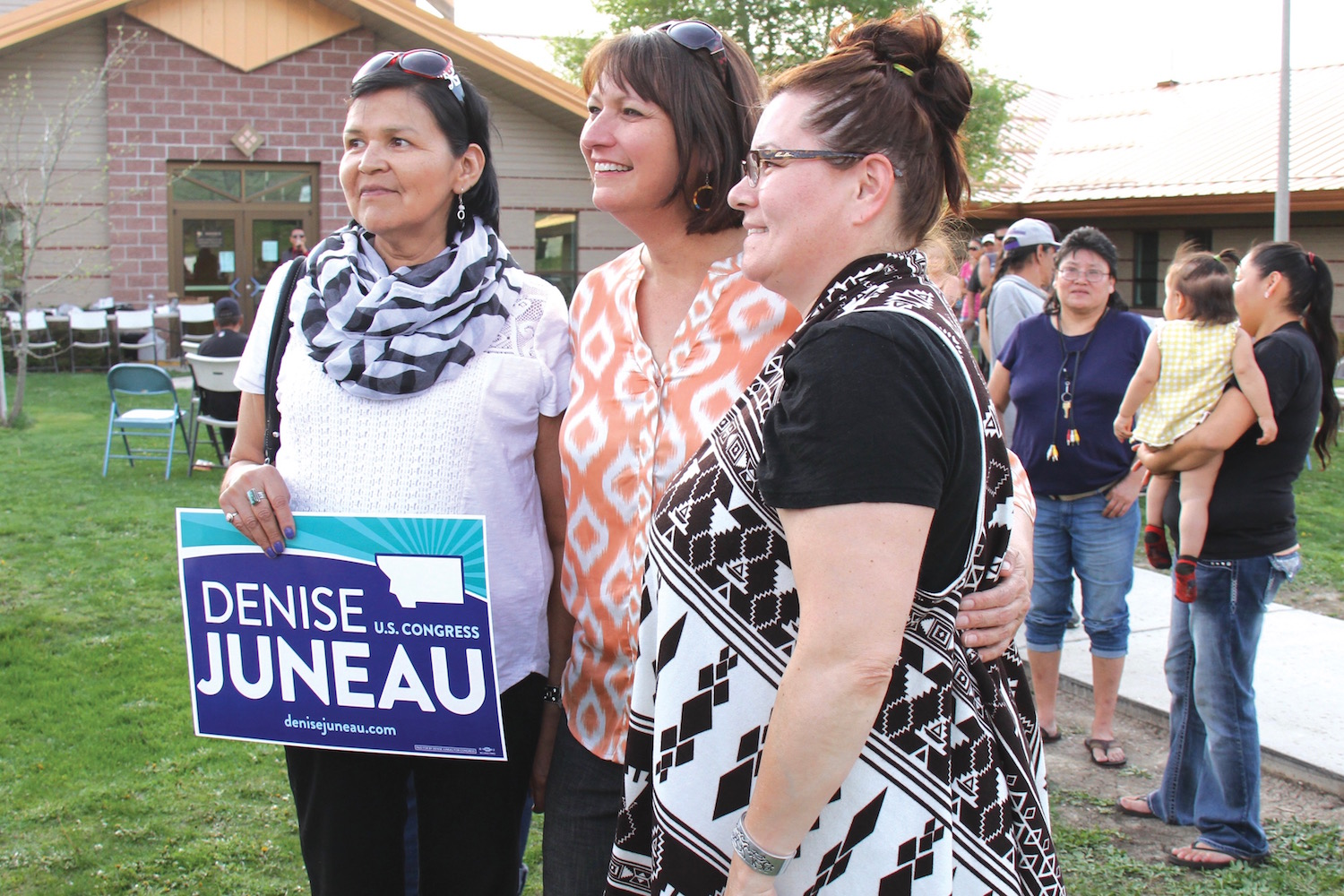 Native Sun News: Denise Juneau campaigns in Cheyenne country