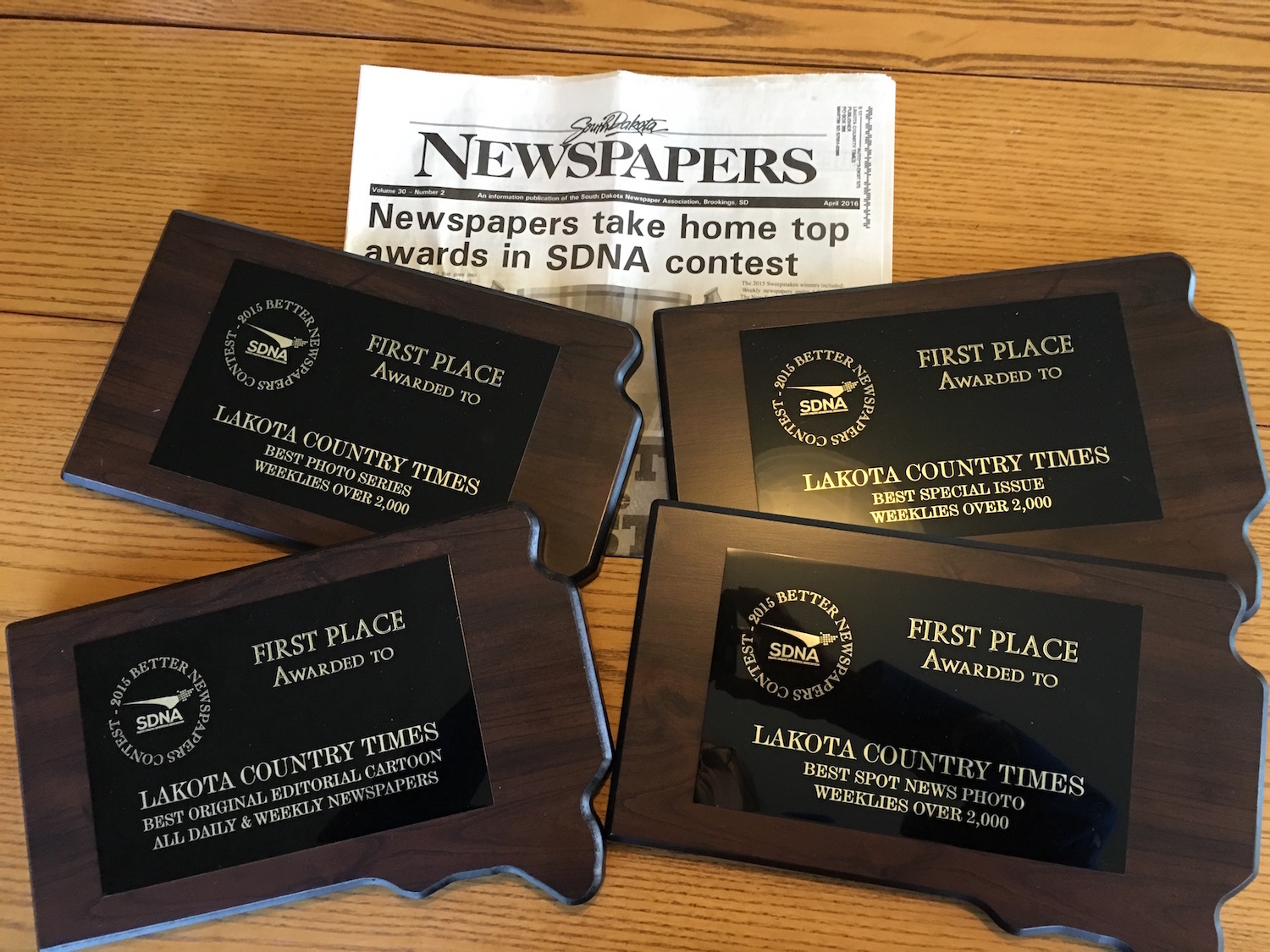 Lakota Country Times: Native newspaper brings home 14 awards