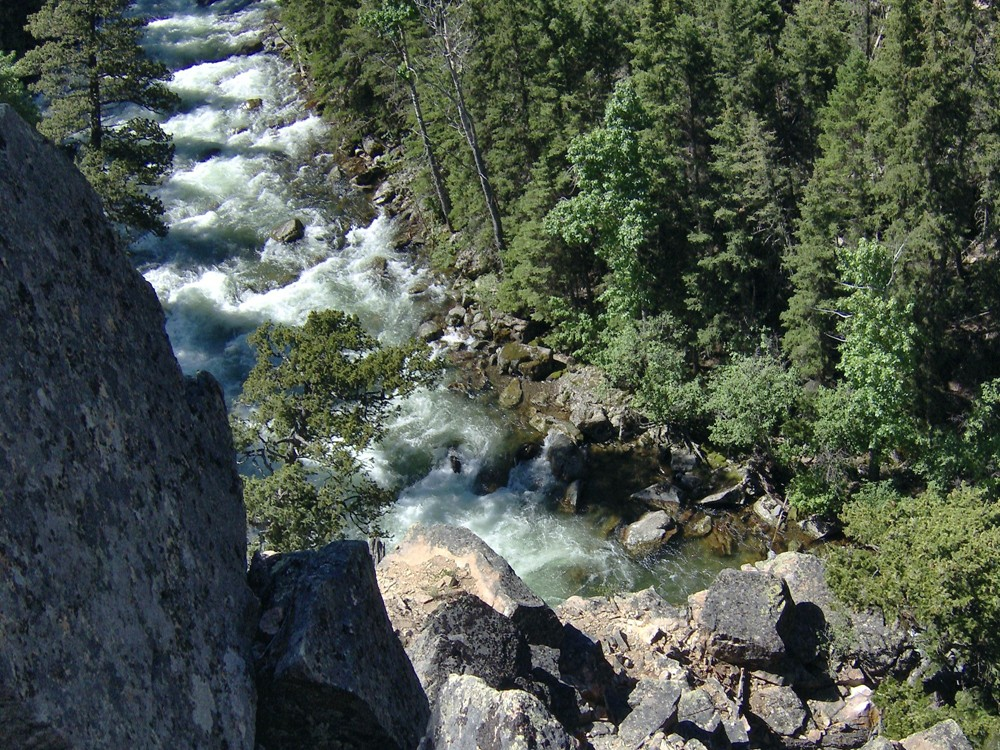 Clara Caufield: Out fishing on the Upper Boulder River in Montana