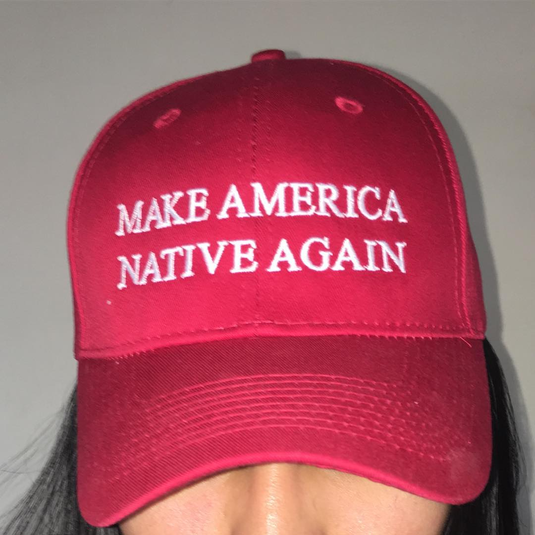 Navajo artist Vanessa Bowen takes on Donald Trump with 'Make America Native Again'