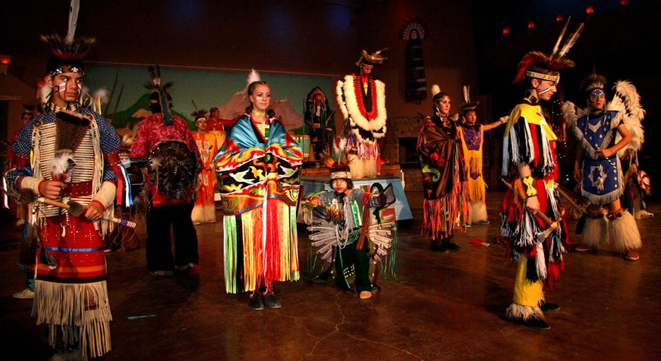 Youth group performs 'tribal' dances and sometimes for money