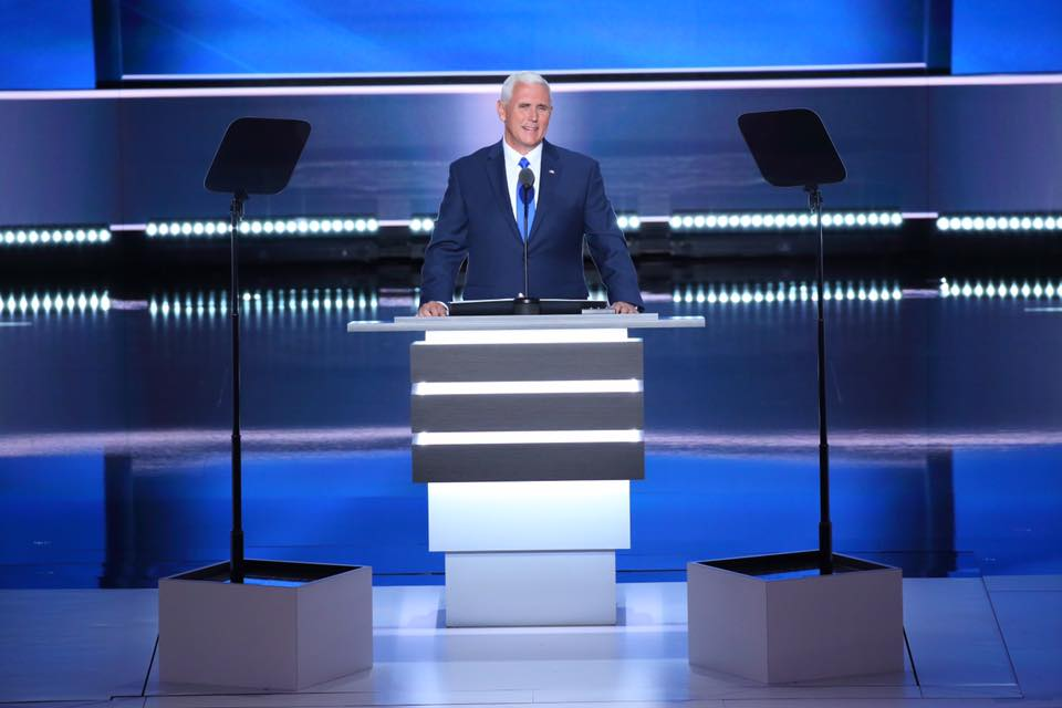 Republican vice presidential pick Mike Pence hosts town hall at Sandia Pueblo