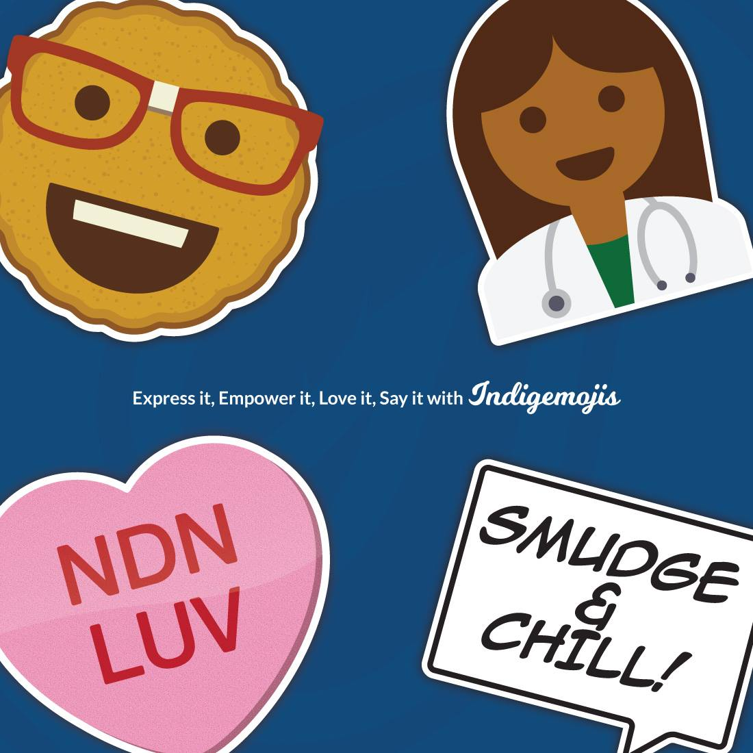 Artist David Bernie offers 'Indigemojis' for your Native emoji needs