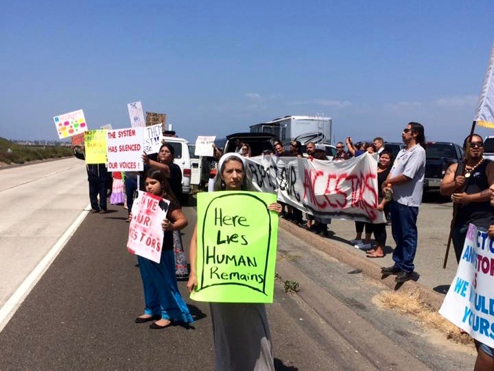 Kumeyaay Nation protests military training center at burial ground
