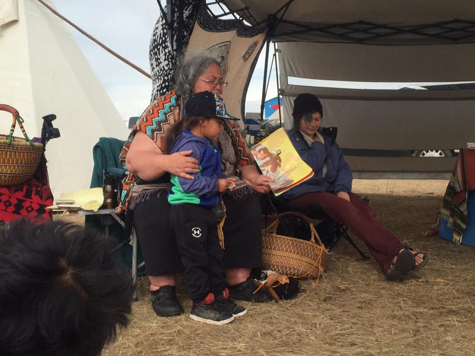 Defenders of the Water School still going strong at #NoDAPL camp