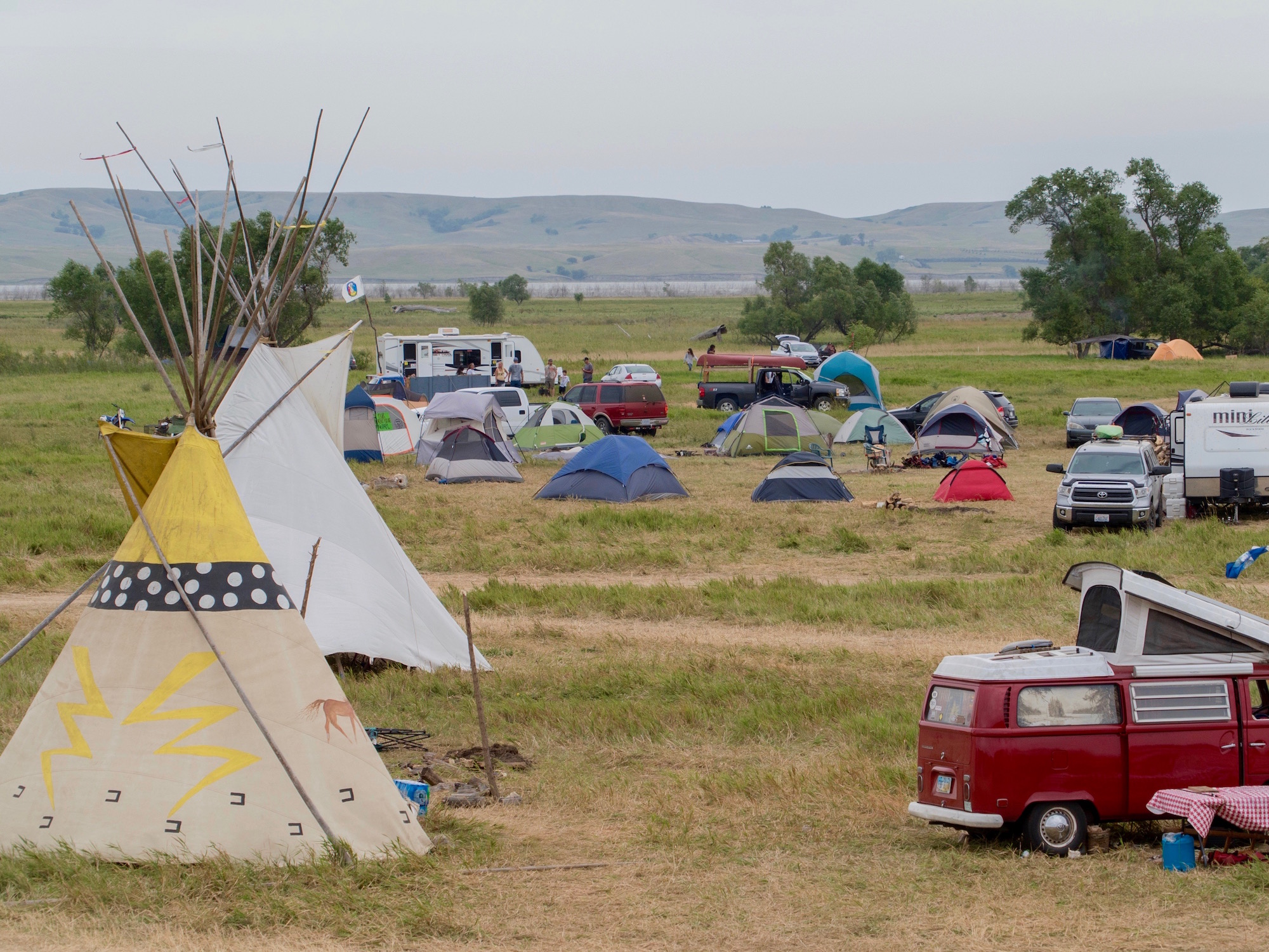 Terri Miles: An 'information point' at the #NoDAPL encampment