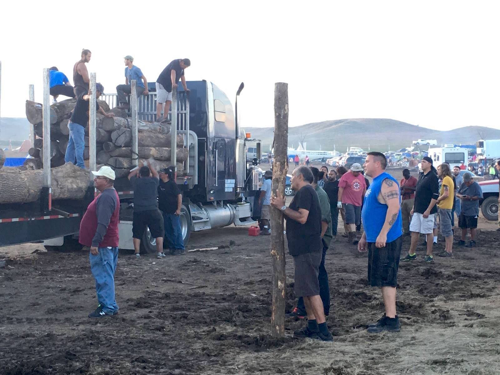 Tribes deliver Wisconsin firewood to Standing Rock Sioux Tribe