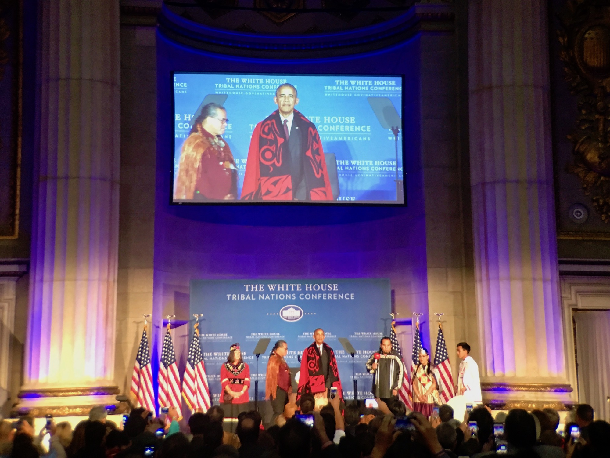 President Barack Obama at White House Tribal Nations Conference