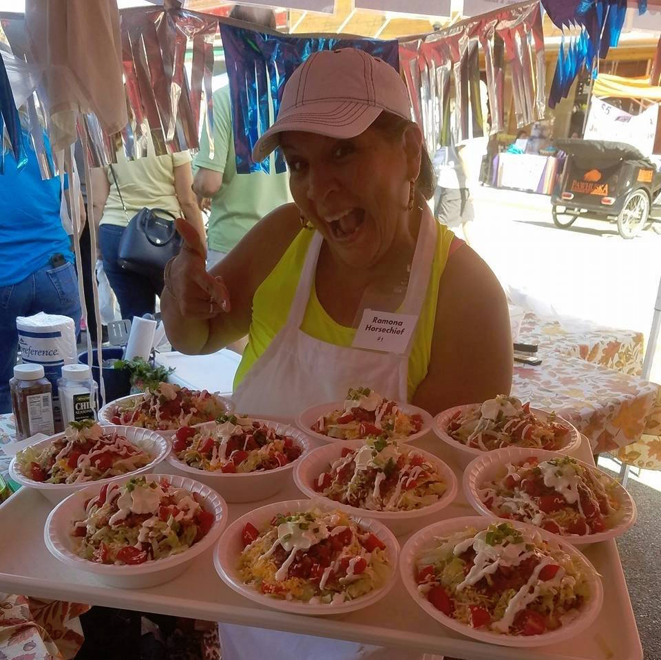 Ramona Horsechief wins Indian taco championship for fifth time