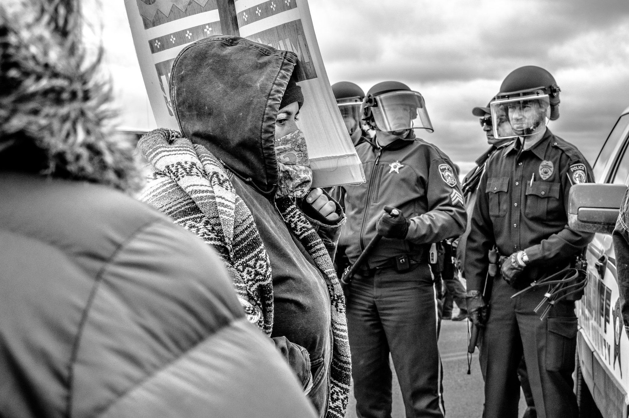 Jenni Giovannetti: Weapons pointed at #NoDAPL water protectors