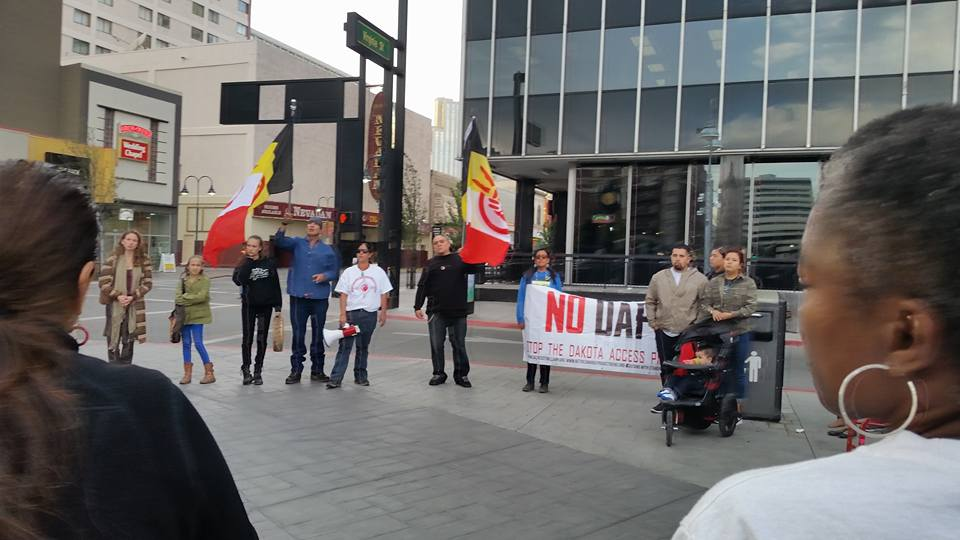 Driver remains free after riding into crowd at Native rights event