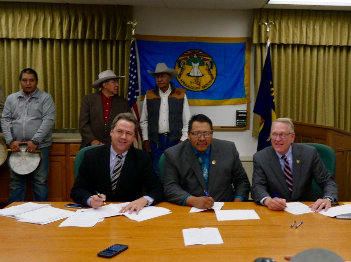 Crow Tribe signs agreement to resolve long-running tax dispute