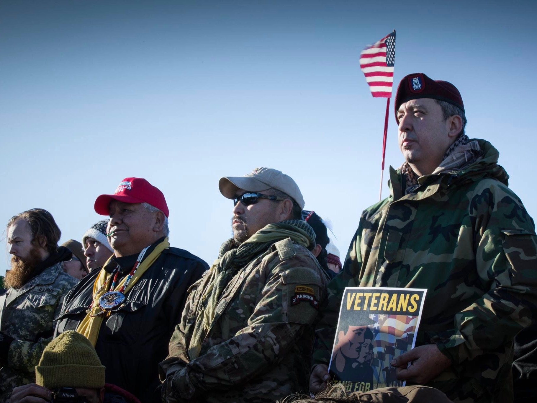 Democracy Now: Thousands of veterans deploy to Standing Rock