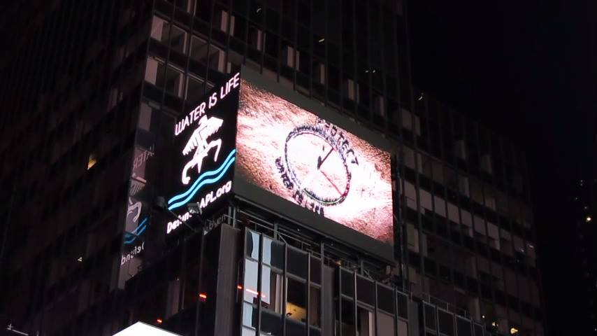 Native Sun News Today: #DefundDAPL billboard goes up in Times Square