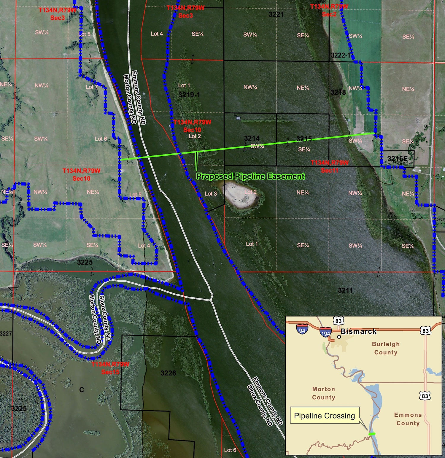 A Map Included In The Eat For The Dakota Access Pipeline Shows The Area Where Drilling Will Occur In North Dakota Source U S Army Corps Of Engineers