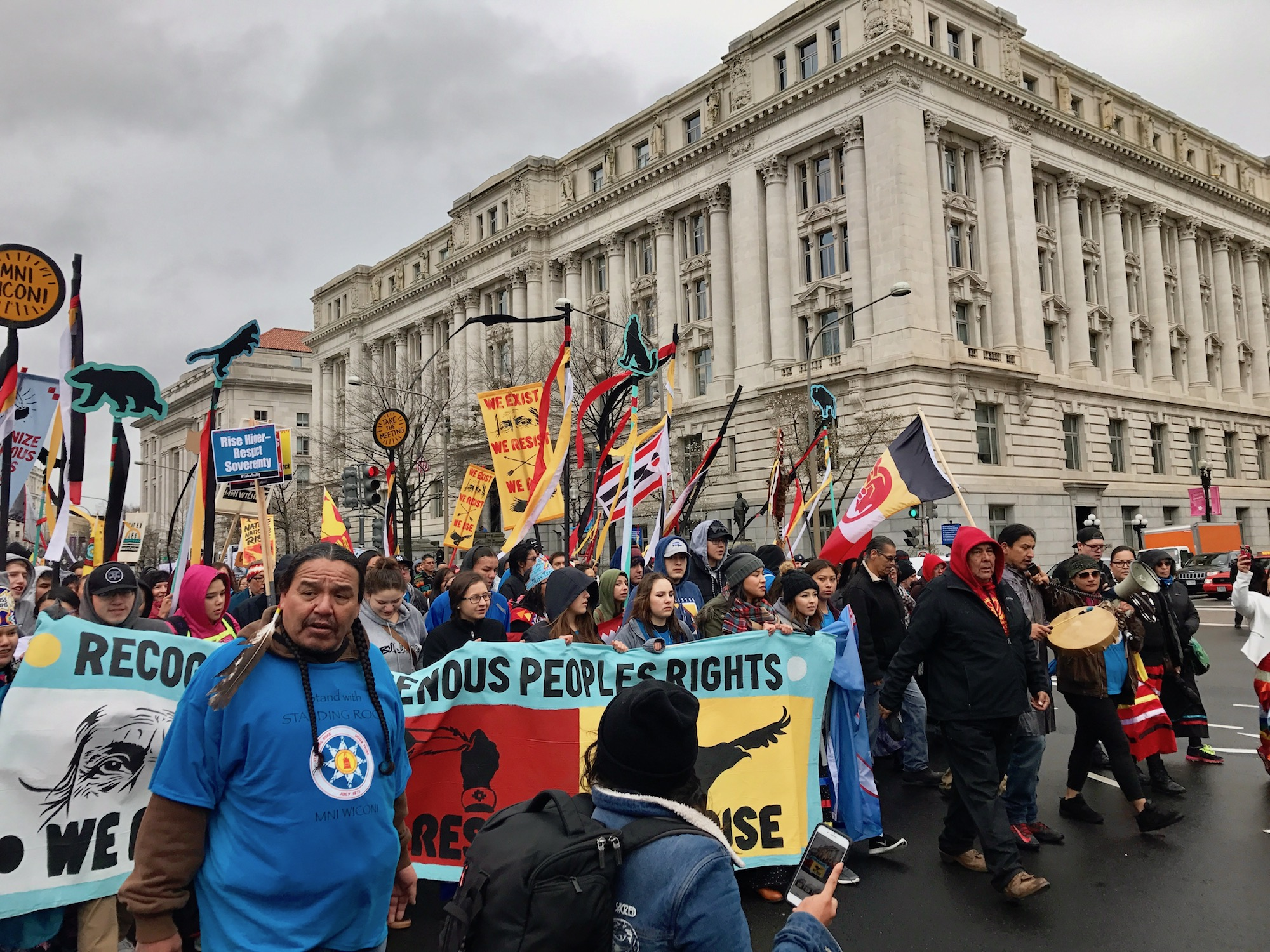 Native citizens rally in nation's capital to send message to Donald Trump