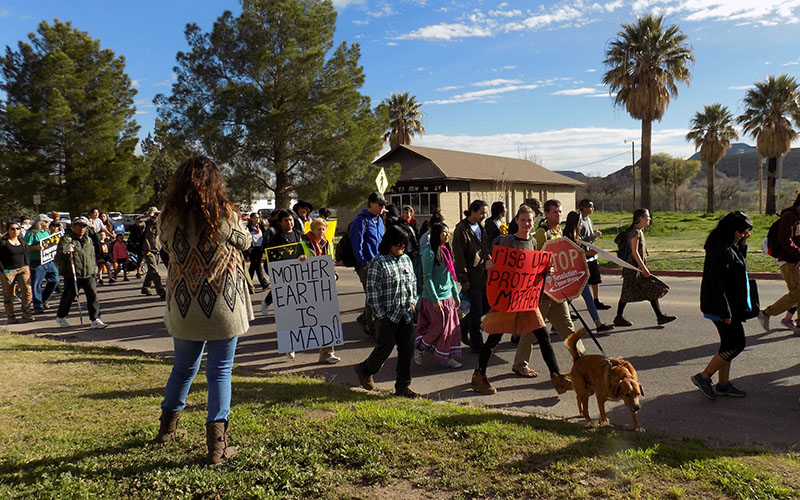 Cronkite News: San Carlos Apache Tribe marches for sacred site