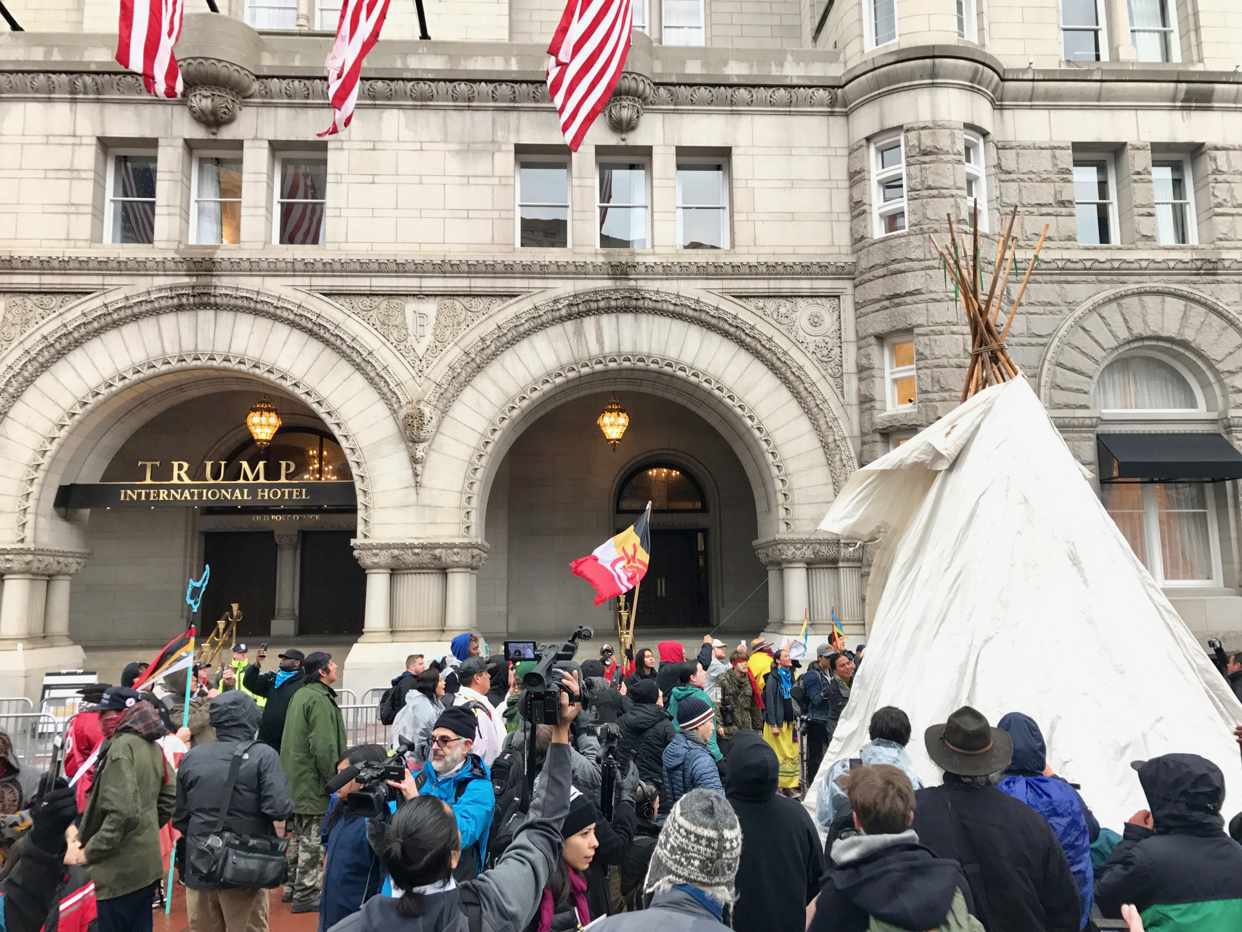 Indigenous activists make presence known for climate march in D.C.