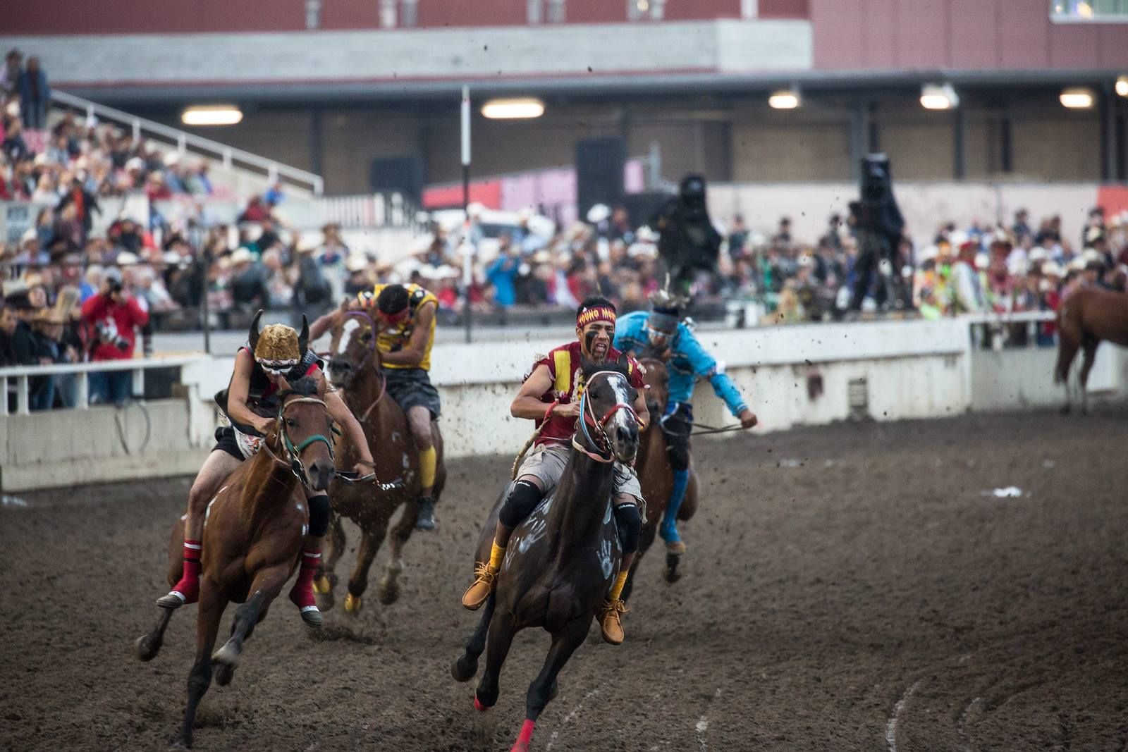 Indian relay team from Blackfeet Nation wins title at Calgary Stampede