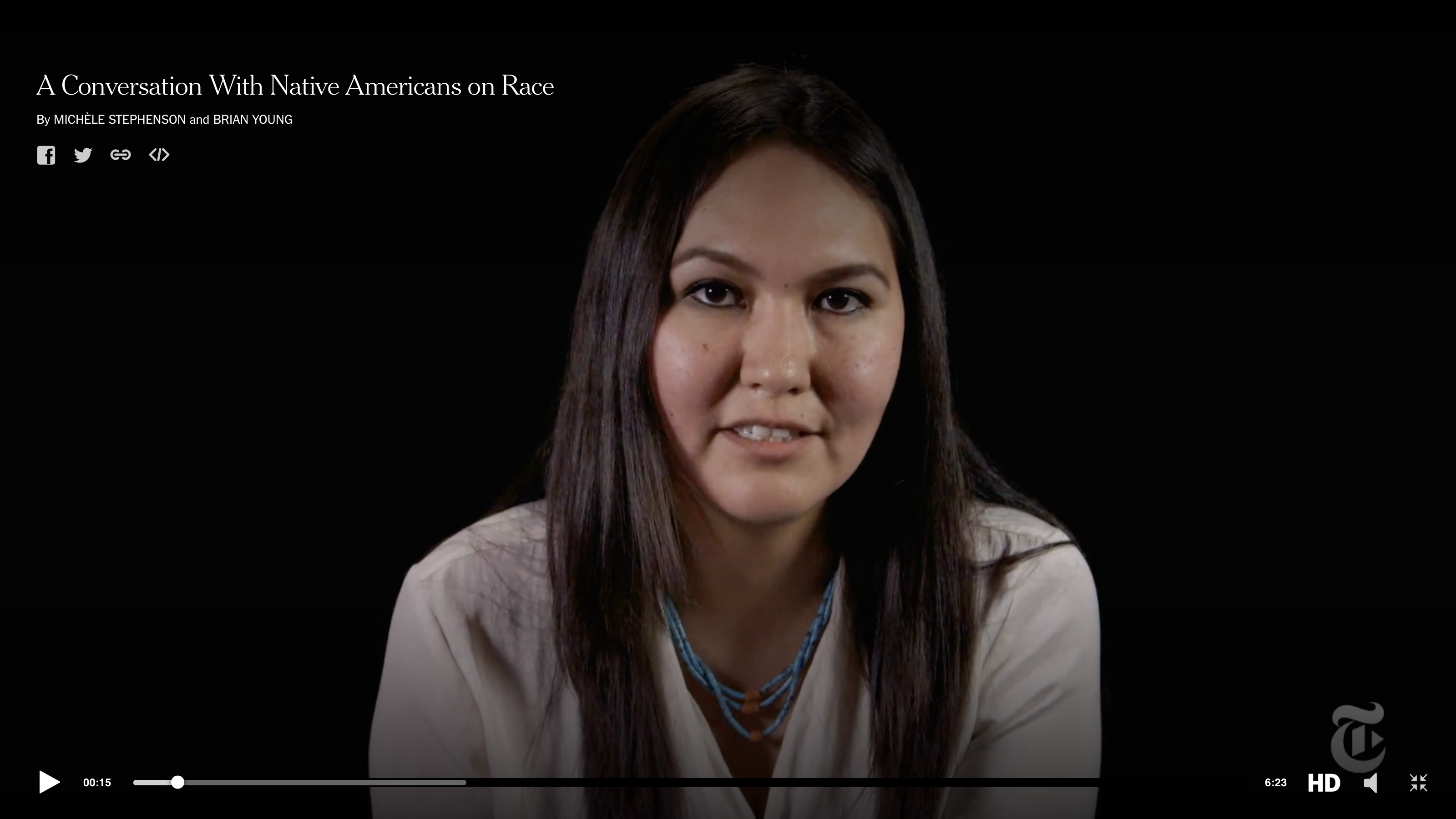 New York Times turns to Native Americans for Conversation on Race project