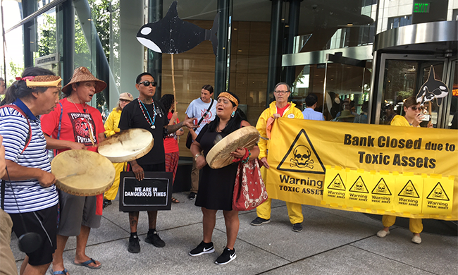 YES! Magazine: Indigenous activists pressure banks to stop funding pipelines