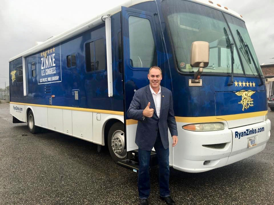 Secretary Zinke sold motor home at half price to Republican seeking Trump job