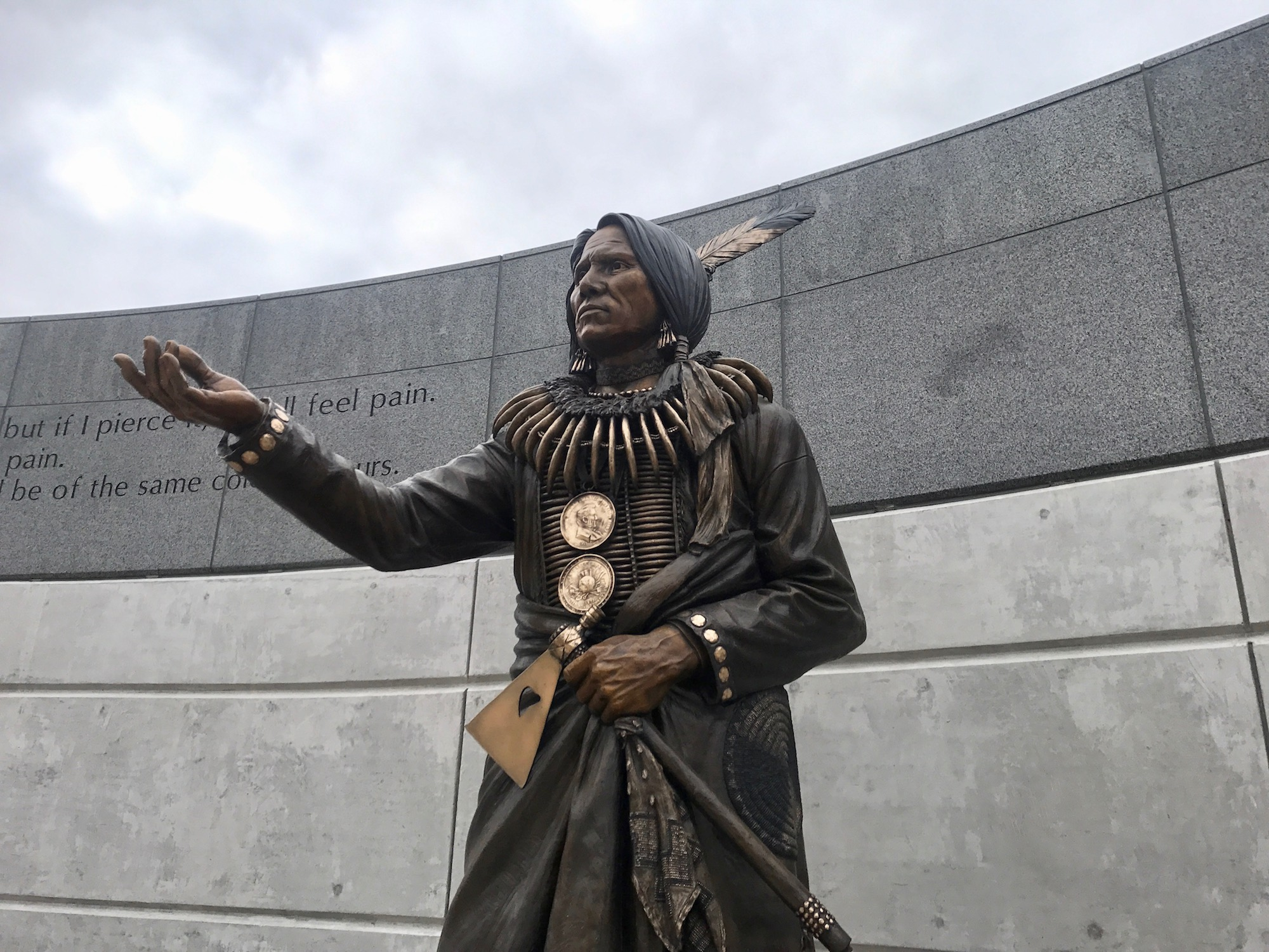 'An Indian man is on the mall' -- Statue of Ponca Chief Standing Bear is unveiled
