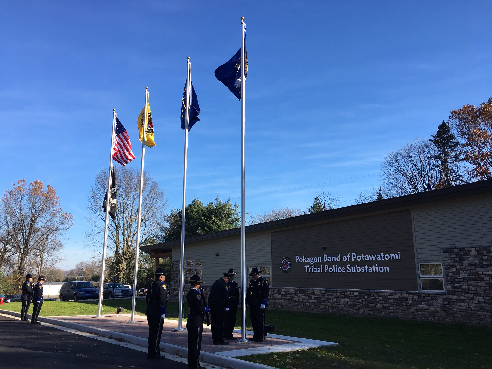 Pokagon Band debuts police station to service site of new casino in Indiana