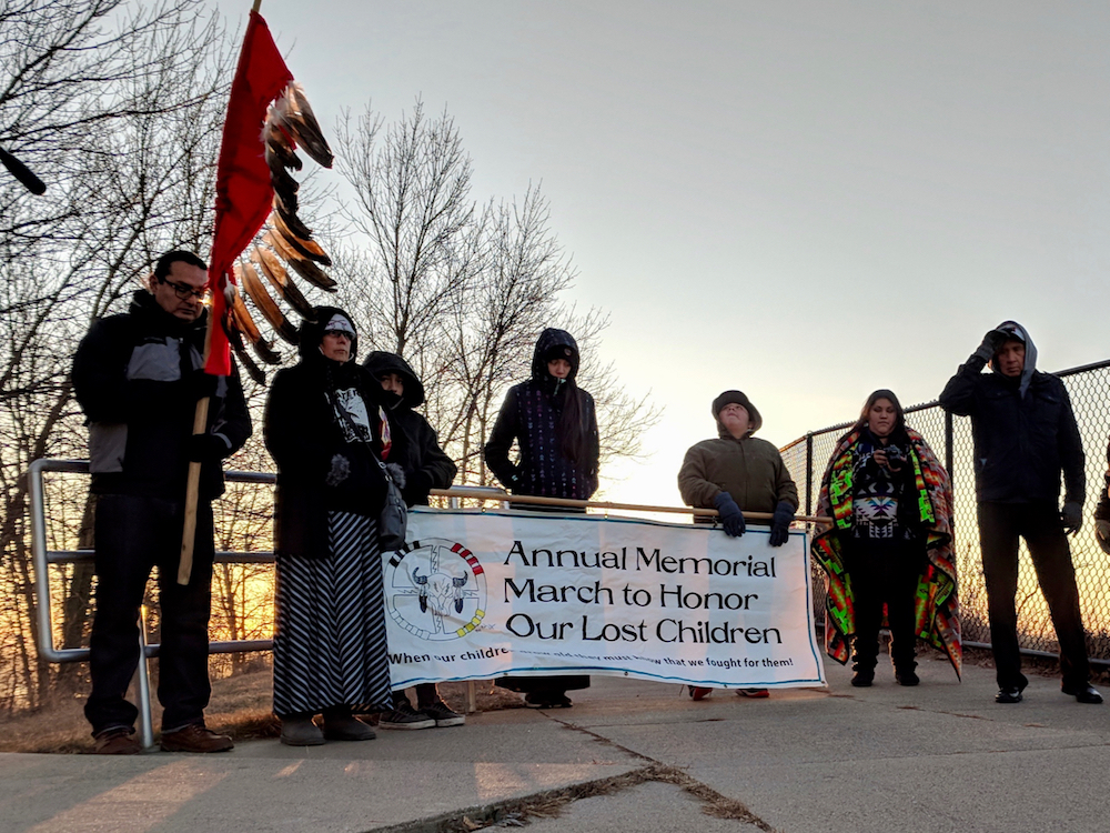 'Stand up, fight back!' -- Annual march to honor lost Native children continues