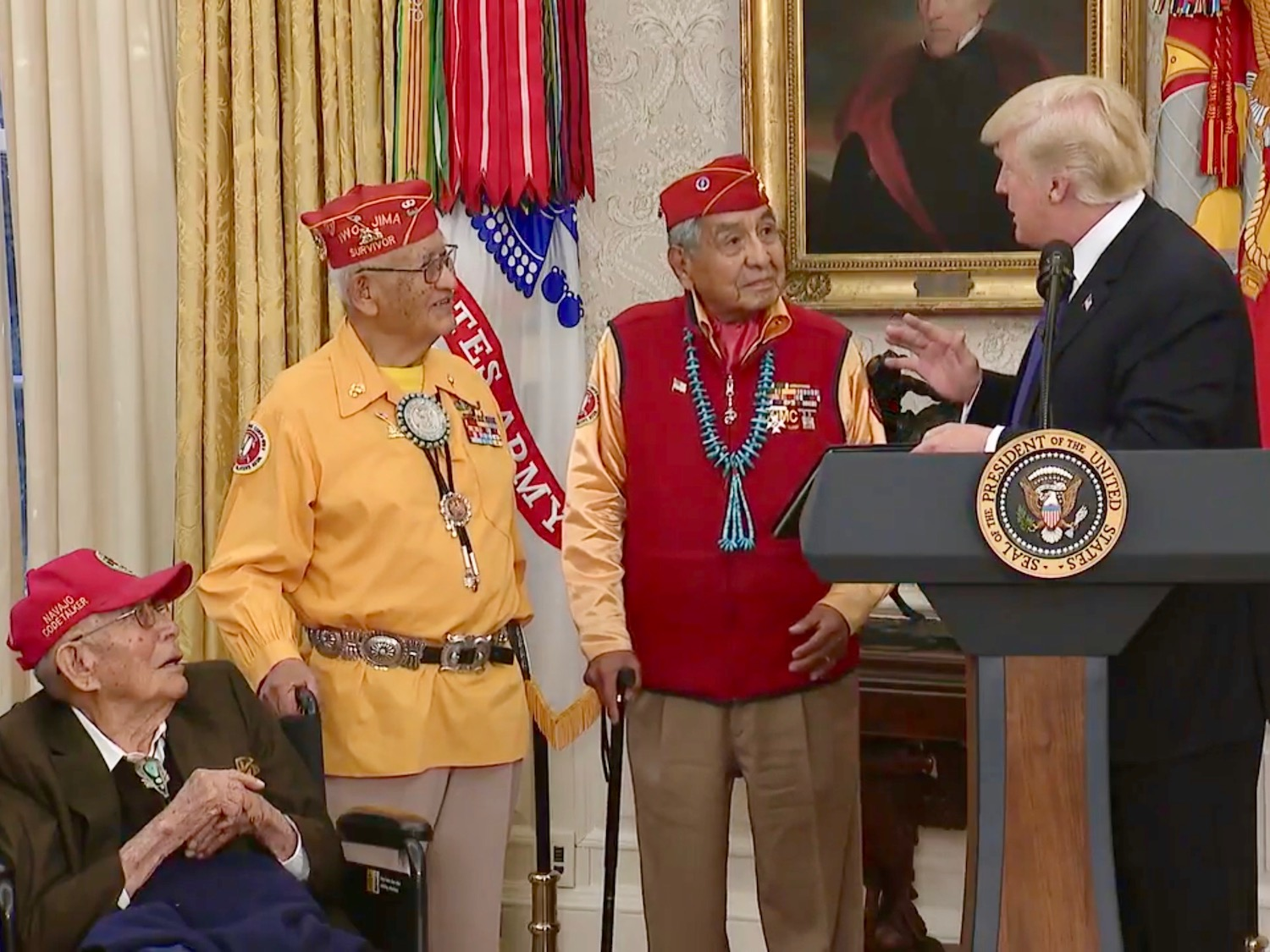 Cronkite News: President Trump overshadows Code Talkers with 'Pocahontas' jab