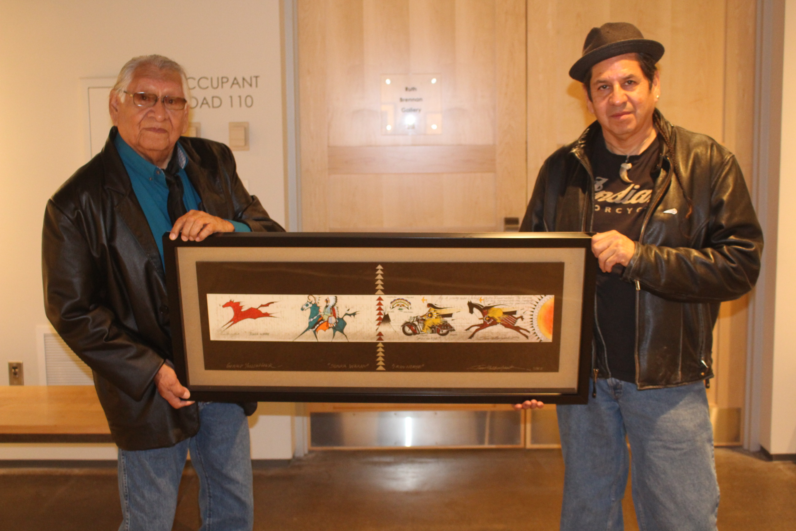 Native Sun News Today: Lakota father and son make history with art exhibition