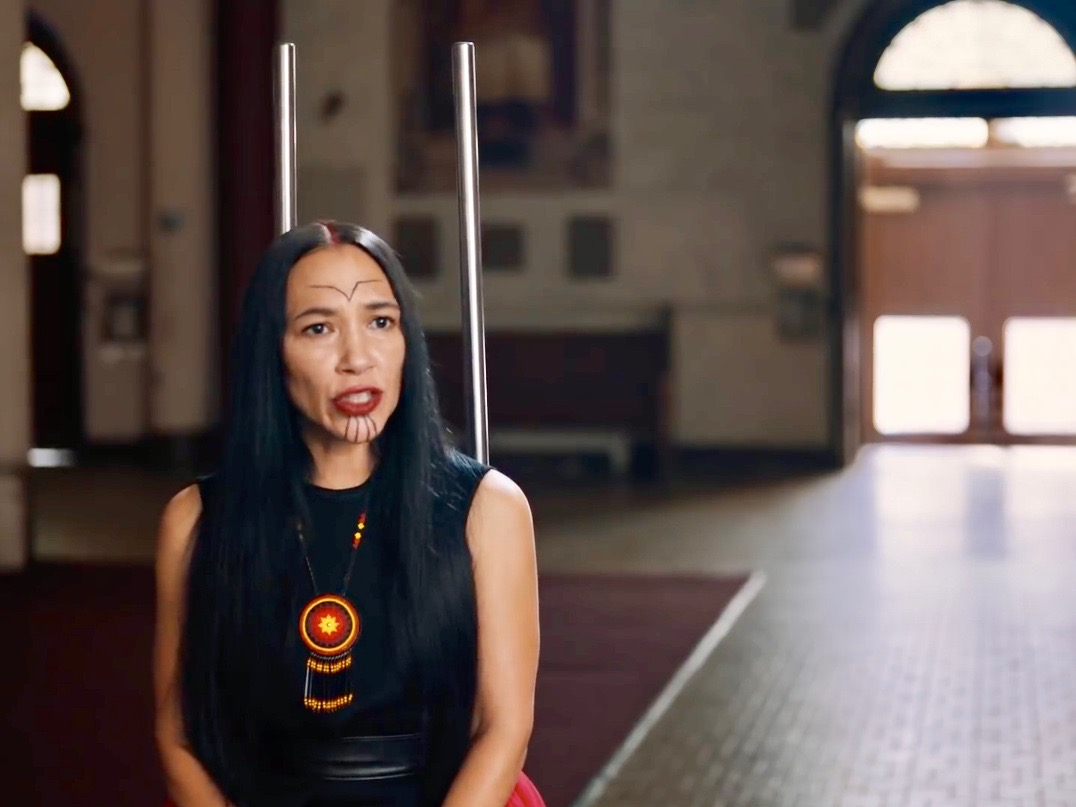 Native actress Irene Bedard lands role of co-president in star-studded video