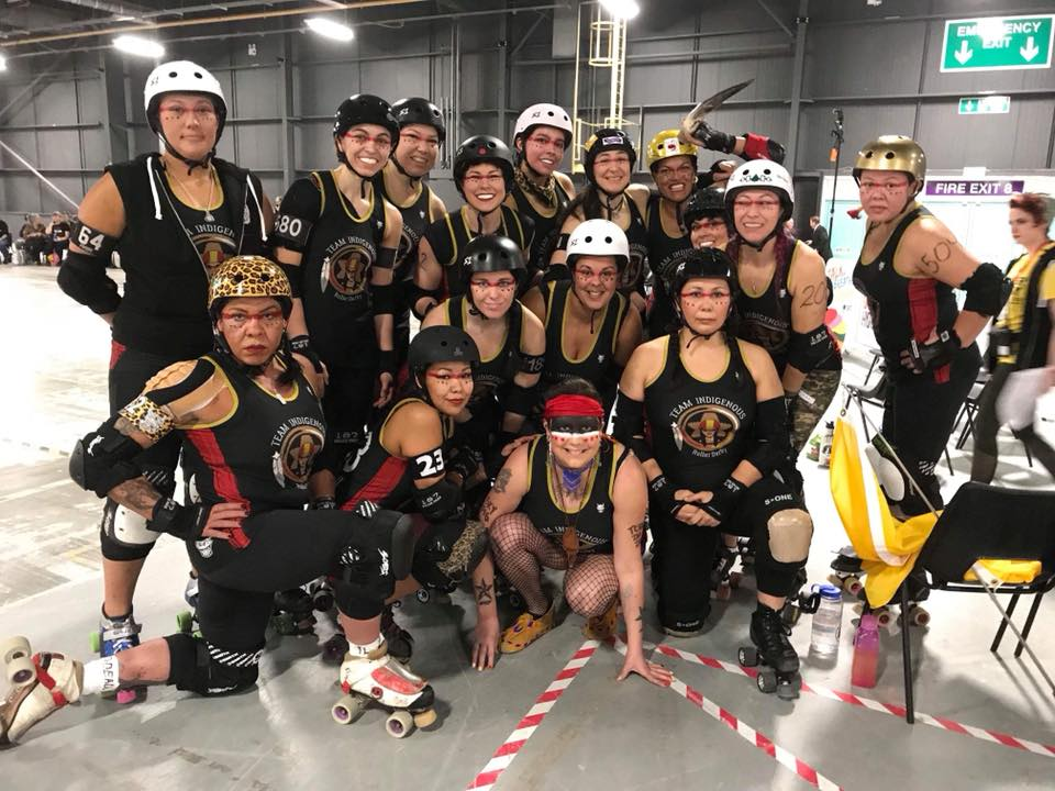 Team of indigenous women competes for first time in world roller derby