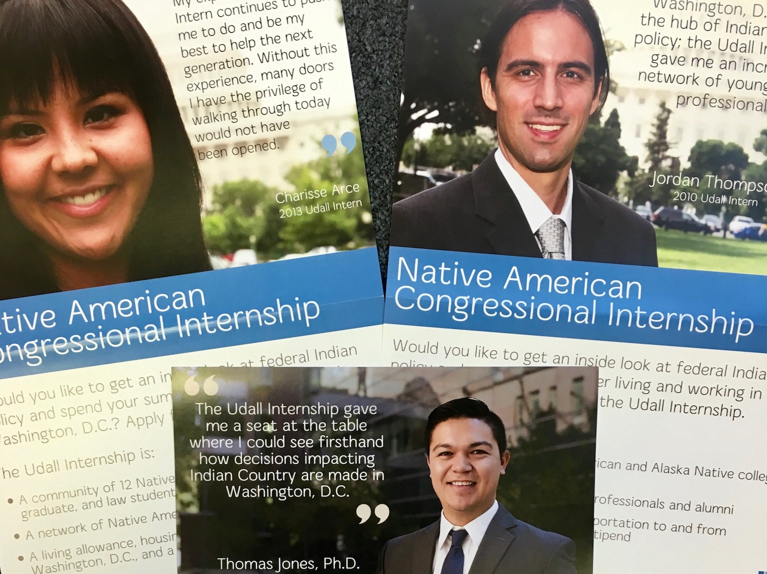 Native students selected for prestigious internships in nation's capital