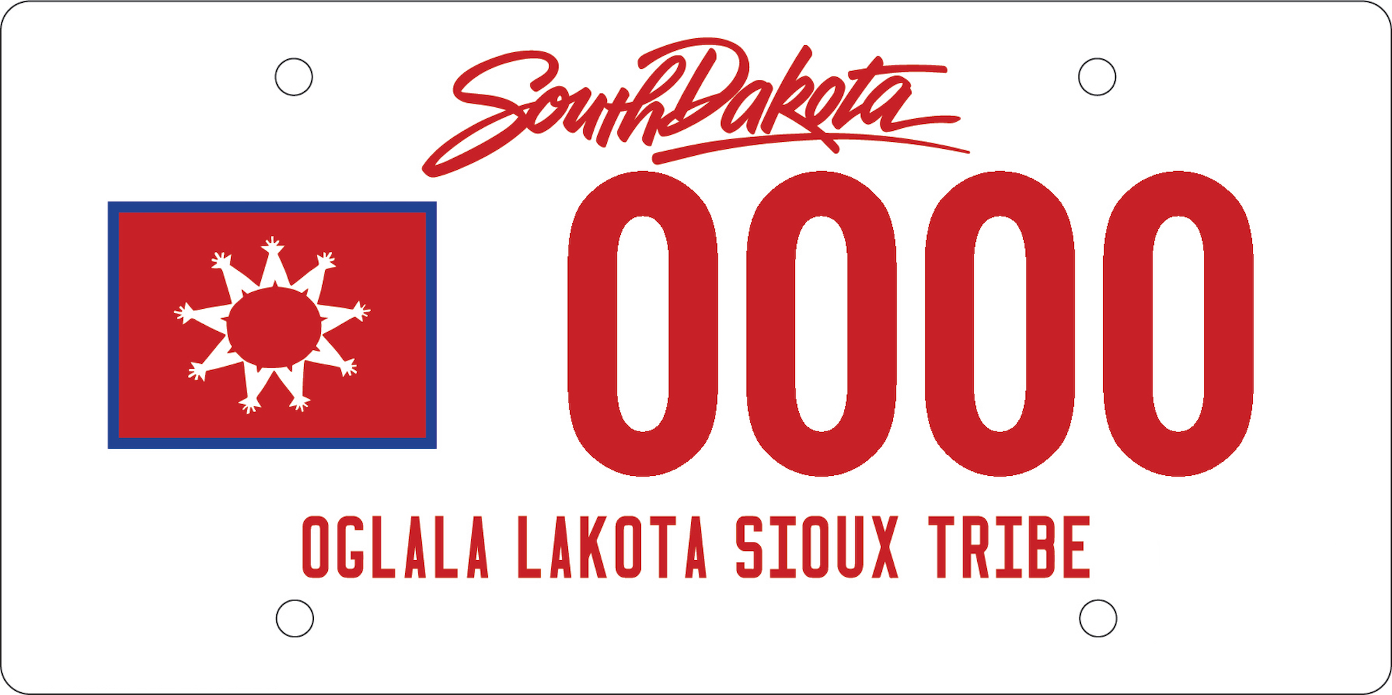 South Dakota now offering specialty license plates for all nine Sioux tribes