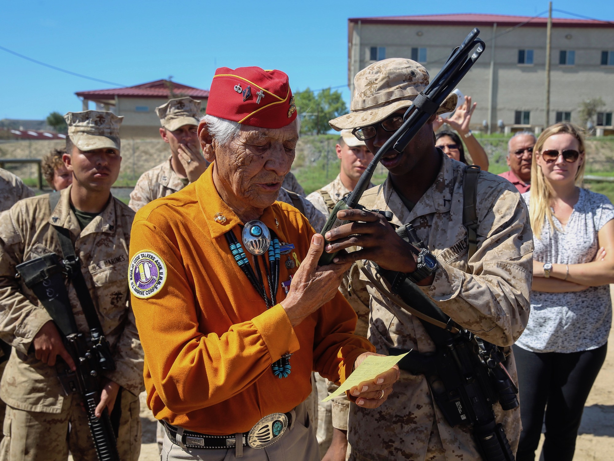 Video: Navajo Code Talker Roy Hawthorne shares his story for veterans project