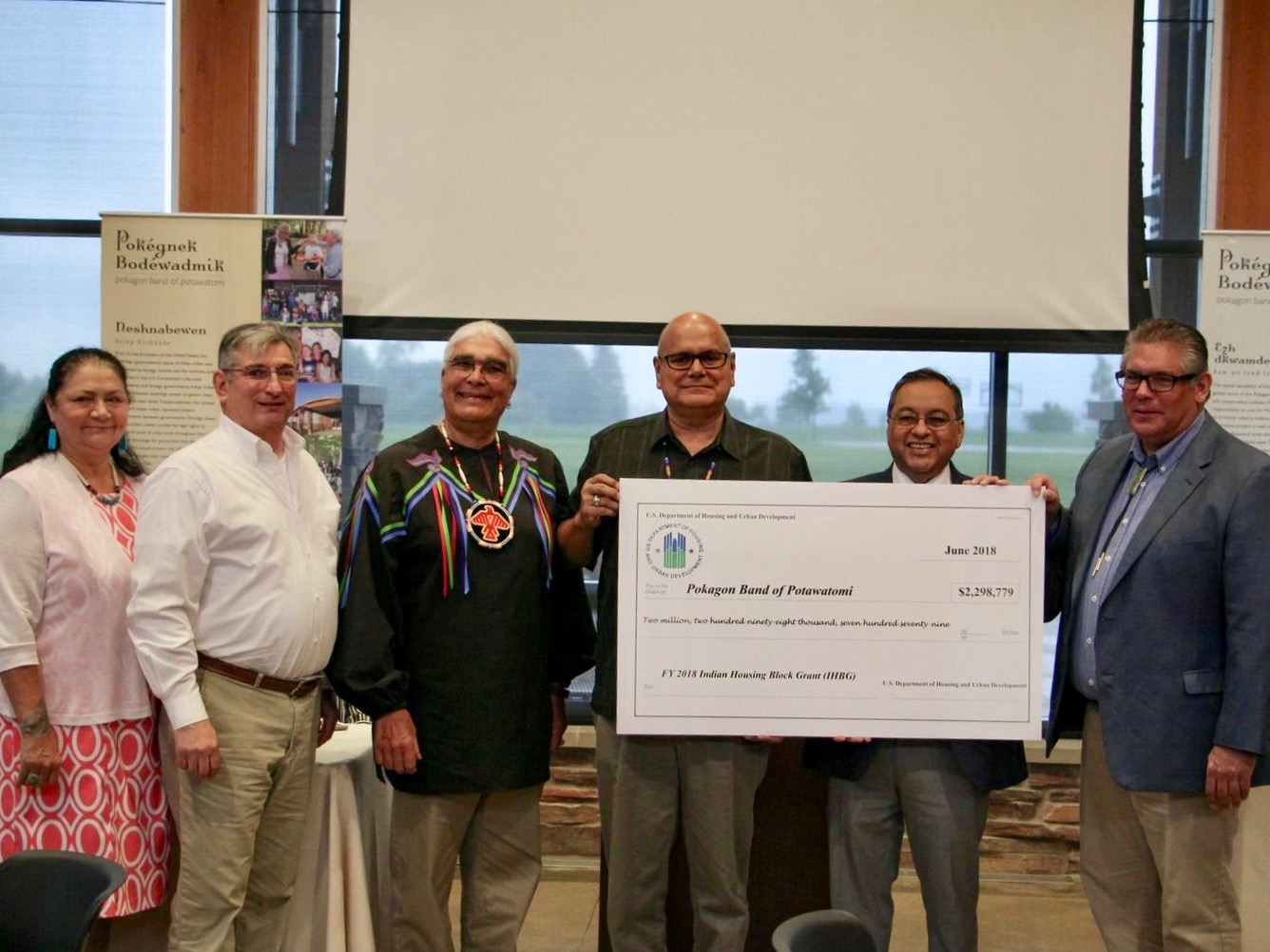 Pokagon Band celebrates influx of $2.3 million in federal housing funds