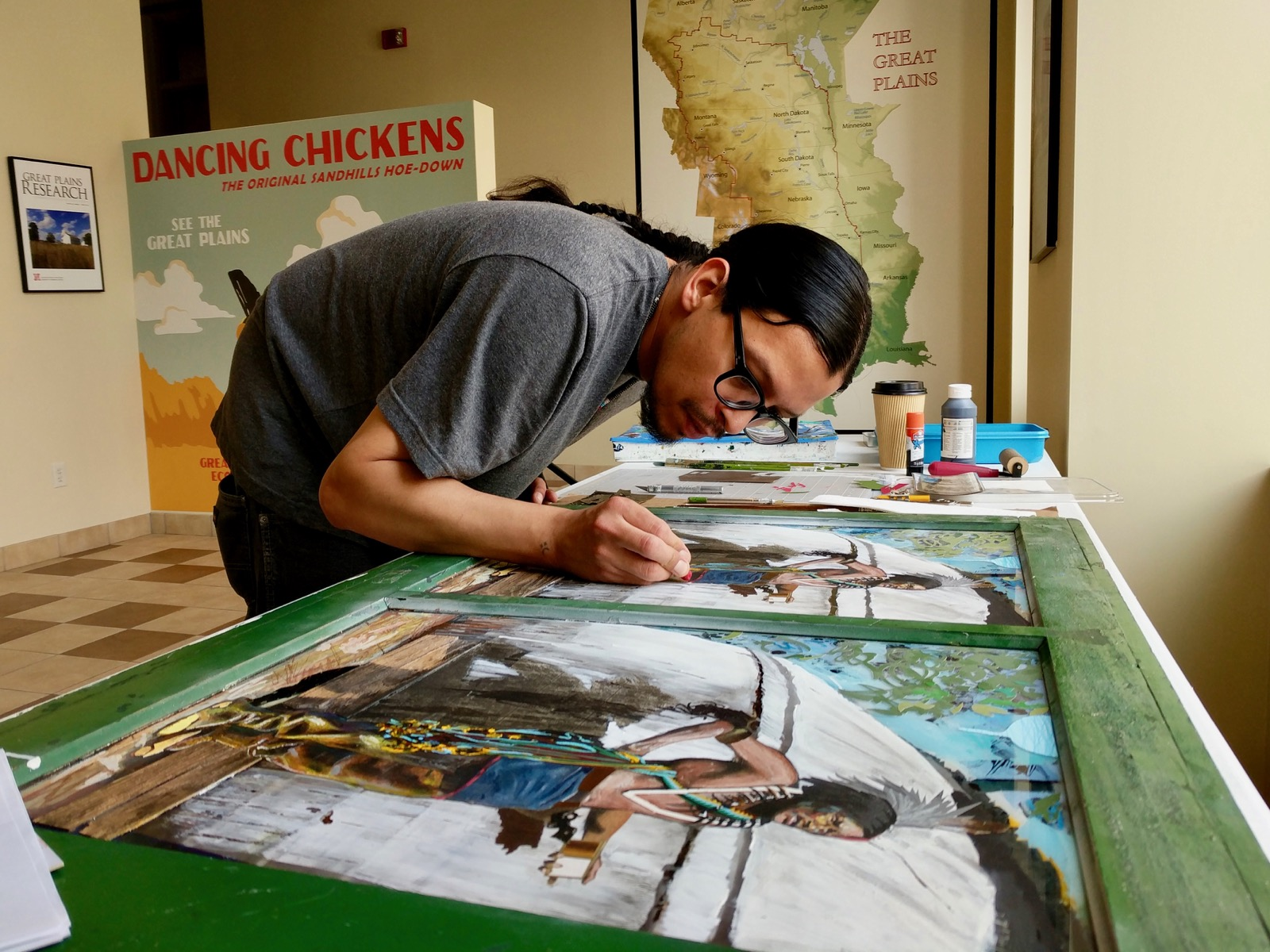 Winnebago artist Henry Payer taps into tribal history