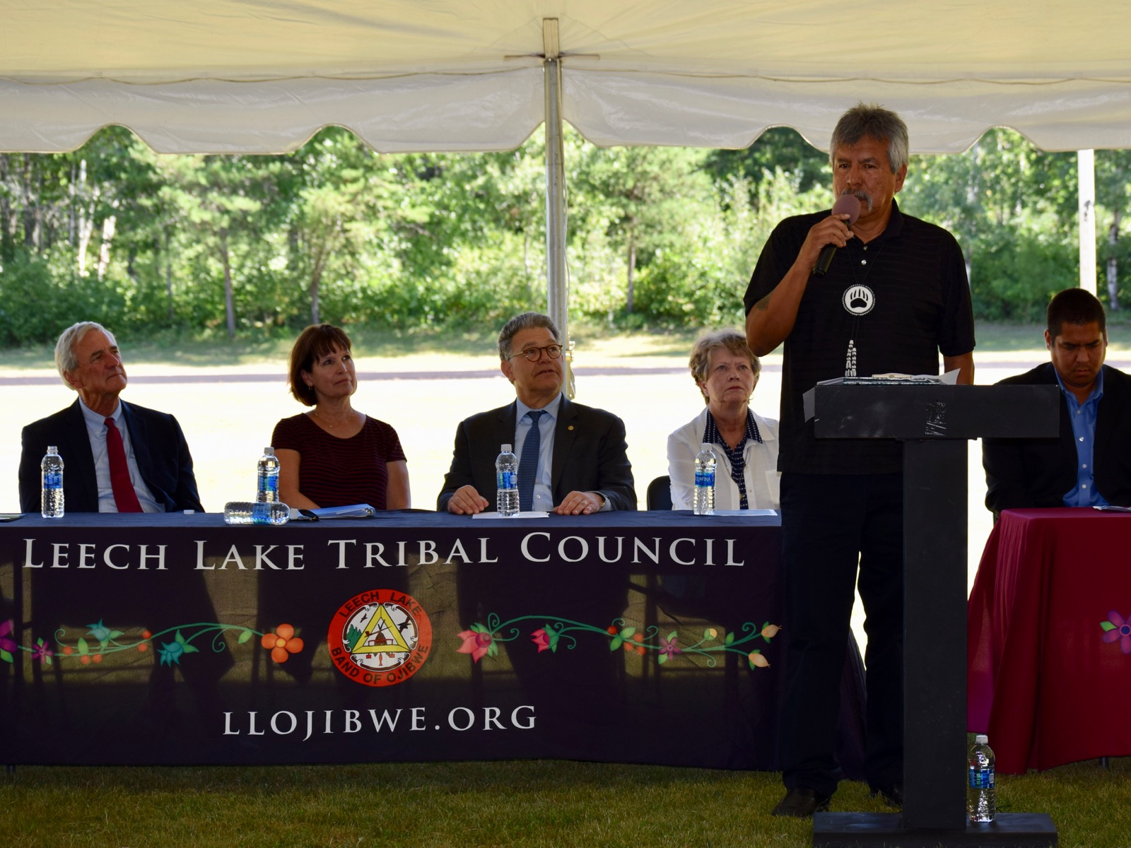 Witness list for hearing on bill to return land to Leech Lake Band