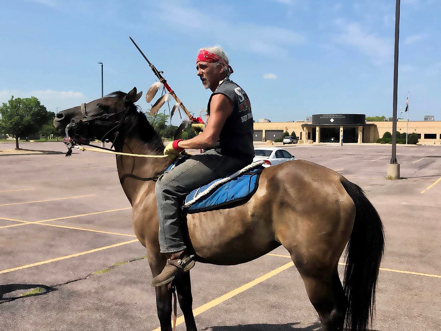 'Release our brother': Riders seek justice for Leonard Peltier