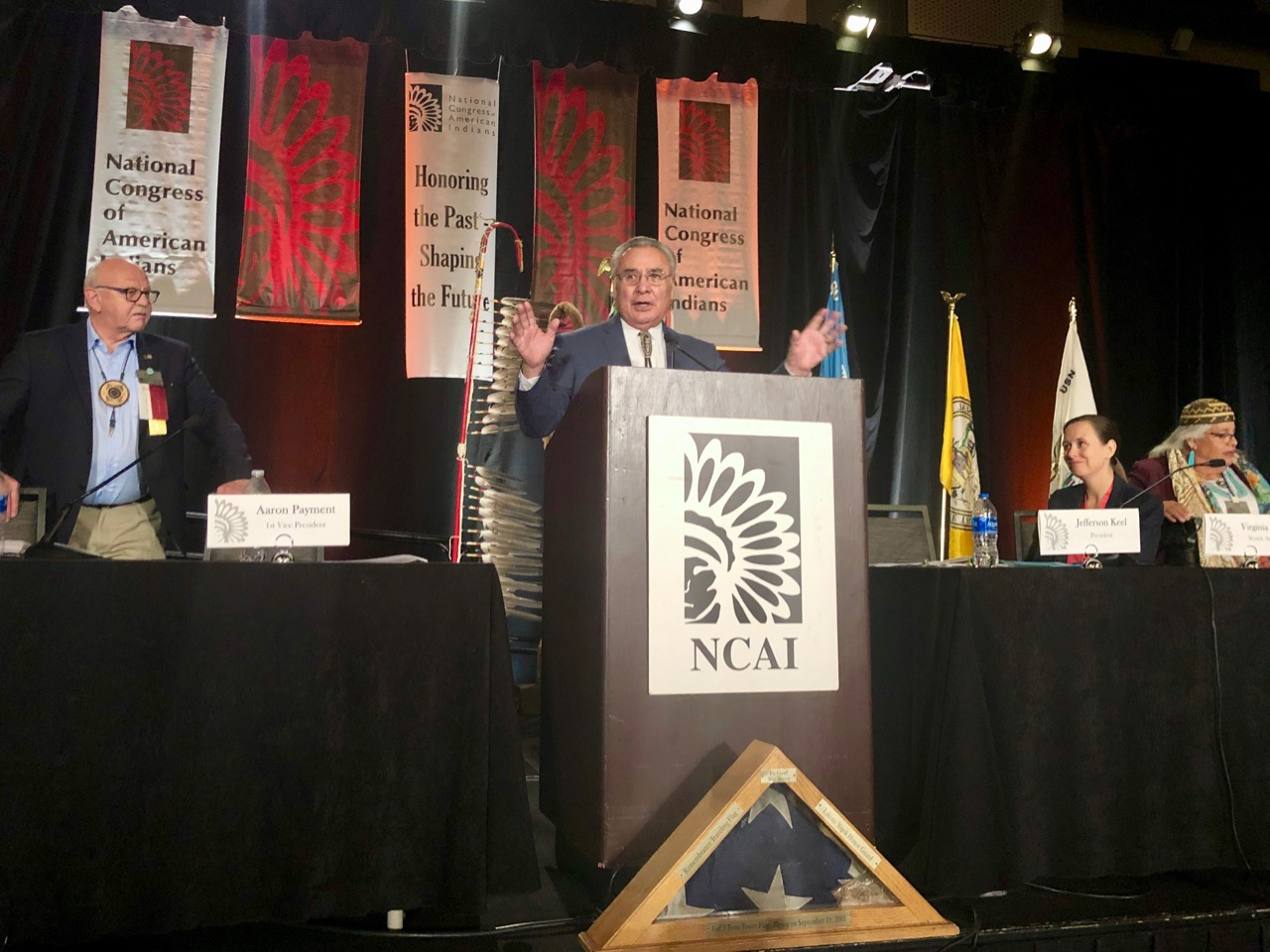 National Congress of American Indians opens annual convention amid controversy