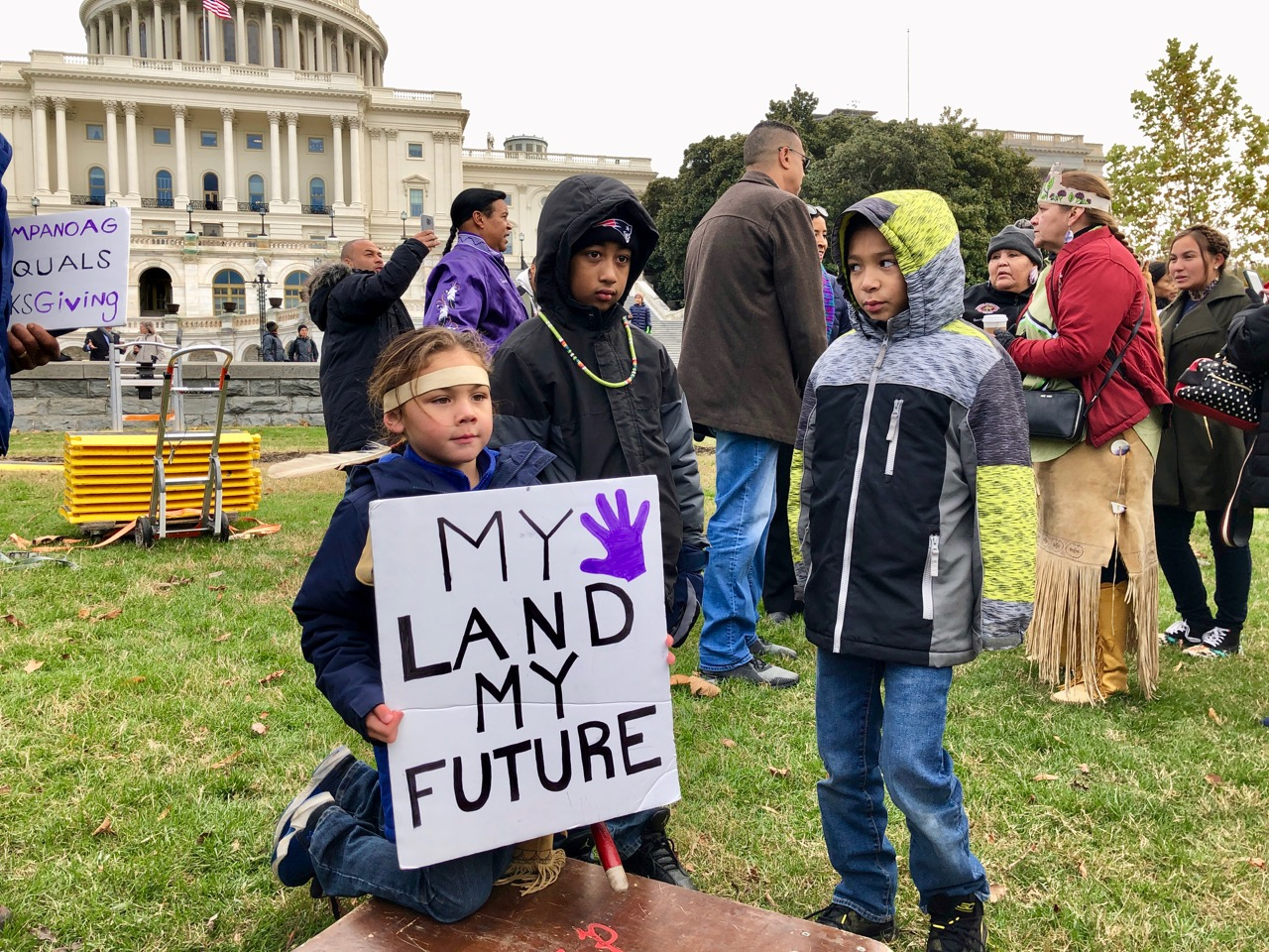 Recap: #StandWithMashpee march for the Mashpee Wampanoag Tribe