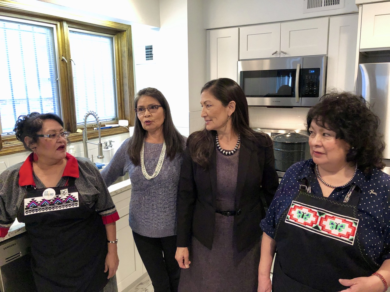 Recap: Pueblo women host traditional feast for Deb Haaland