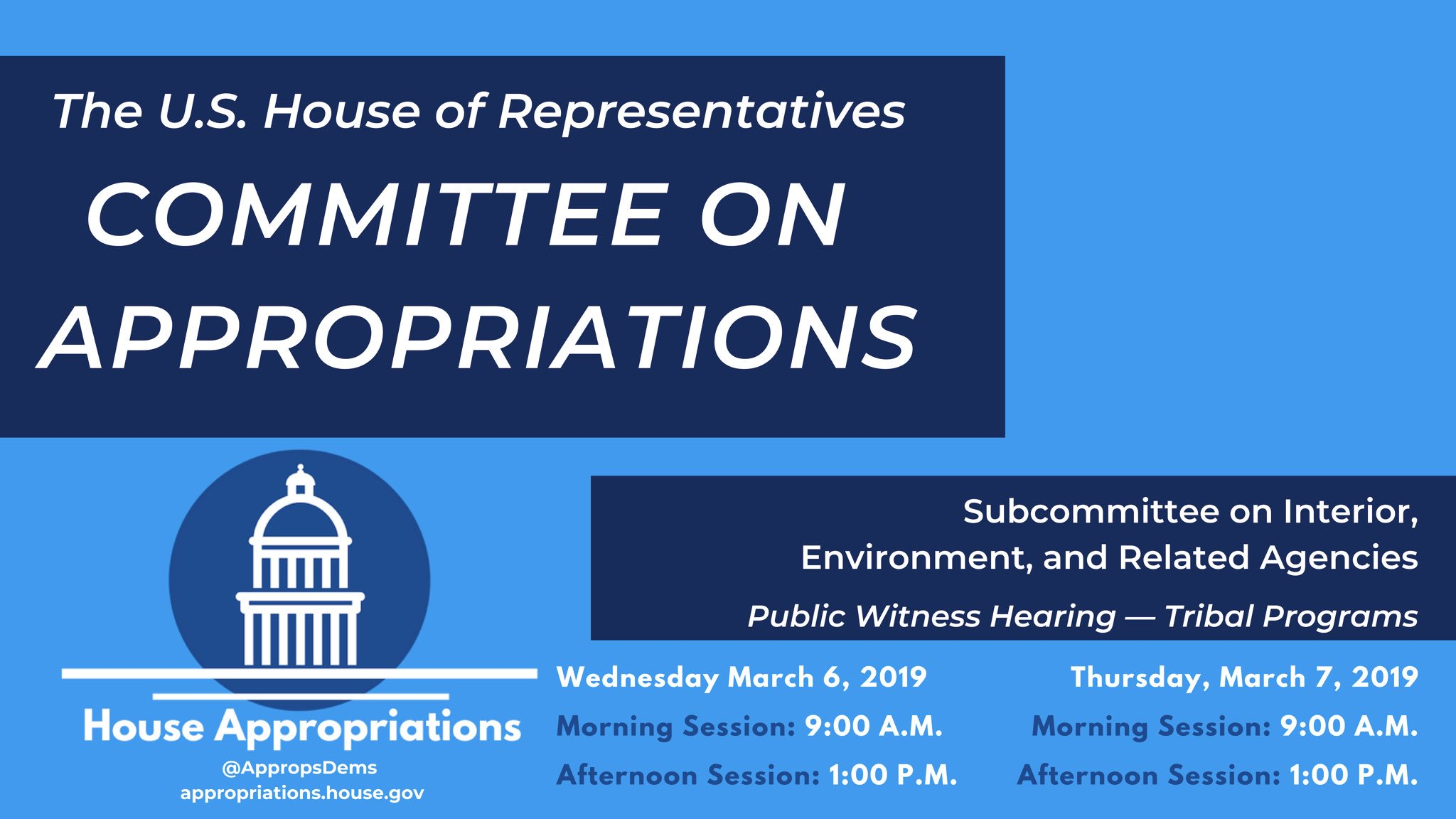 AUDIO: Indian Country leaders share funding priorities with Congress