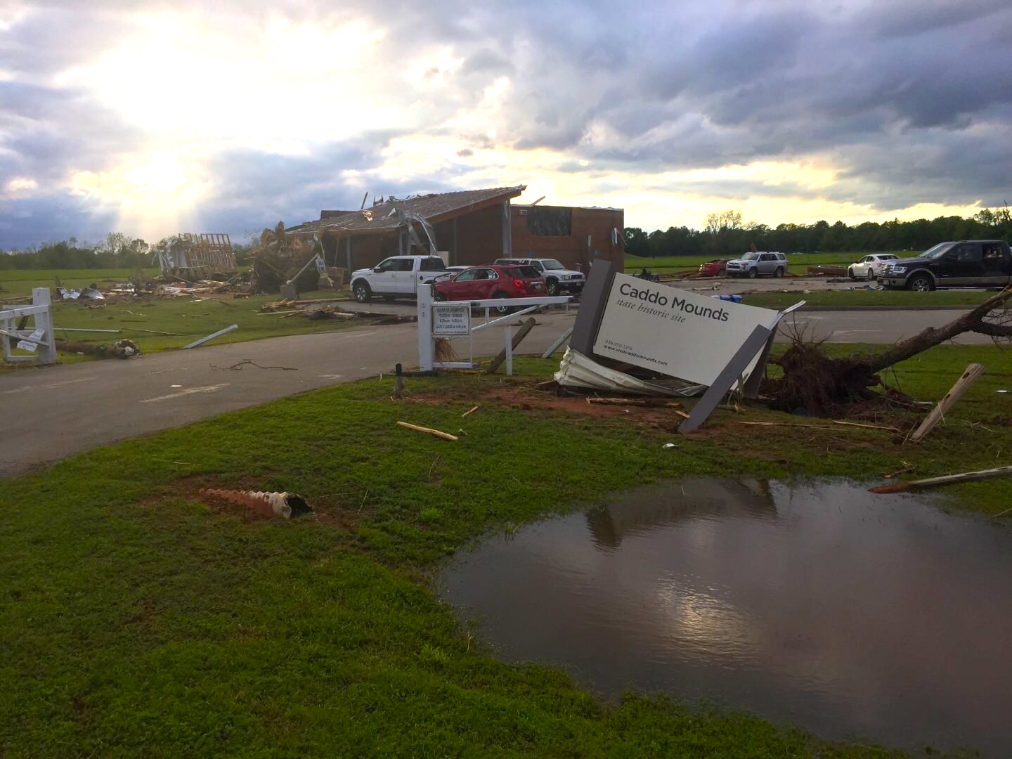 One person reported dead as tornado strikes Caddo Mounds State Historic Site