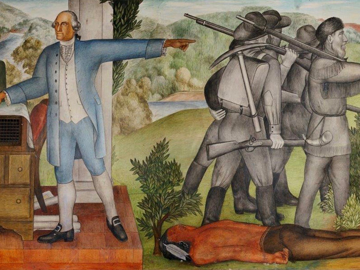 The Conversation: George Washington mural depicts a dead Native man